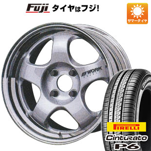タイヤはフジ 送料無料 WORK ワーク マイスター S1 2P 6.5J 6.50-15 PIRELLI チンチュラートP6 185/60R15 15インチ サマータイヤ ホイール4本セット