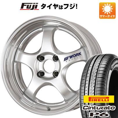 タイヤはフジ 送料無料 WORK ワーク マイスター S1R 6.5J 6.50-16 PIRELLI チンチュラートP6 205/55R16 16インチ サマータイヤ ホイール4本セット