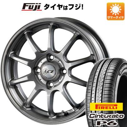 タイヤはフジ 送料無料 INTER MILANO インターミラノ LCZ 010 5.5J 5.50-15 PIRELLI チンチュラートP6 185/60R15 15インチ サマータイヤ ホイール4本セット