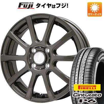 タイヤはフジ 送料無料 BRANDLE ブランドル 565Z 5.5J 5.50-15 PIRELLI チンチュラートP6 185/65R15 15インチ サマータイヤ ホイール4本セット