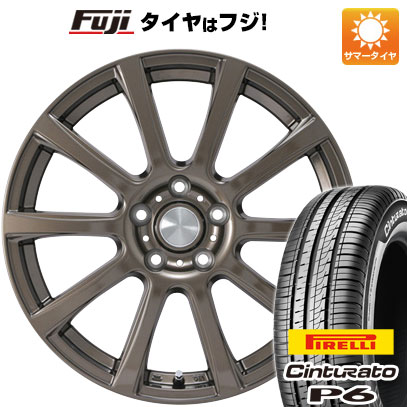 タイヤはフジ 送料無料 カジュアルセット タイプB17 ブロンズ 7J 7.00-17 PIRELLI チンチュラートP6 215/50R17 17インチ サマータイヤ ホイール4本セット