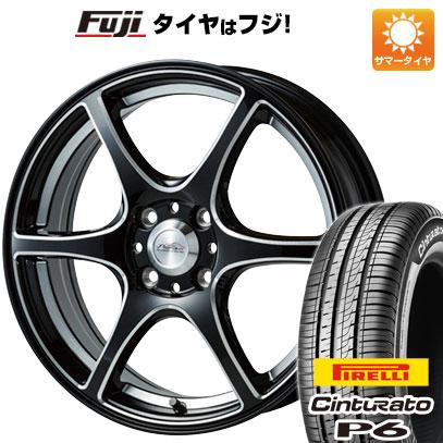 タイヤはフジ 送料無料 5ZIGEN ゴジゲン PROレーサーDF-V6 6J 6.00-15 PIRELLI チンチュラートP6 185/60R15 15インチ サマータイヤ ホイール4本セット