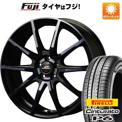 タイヤはフジ 送料無料 MID シュナイダー DR-01 6.5J 6.50-16 PIRELLI チンチュラートP6 215/65R16 16インチ サマータイヤ ホイール4本セット