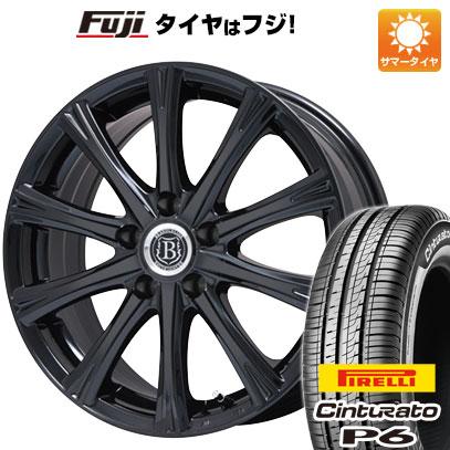 タイヤはフジ 送料無料 BRANDLE-LINE ブランドルライン アヴェルサ 10Z 6.5J 6.50-16 PIRELLI チンチュラートP6 195/60R16 16インチ サマータイヤ ホイール4本セット
