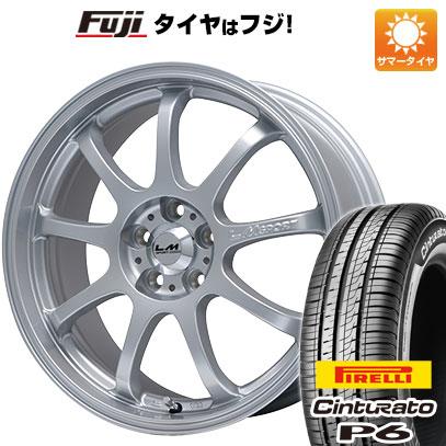 タイヤはフジ 送料無料 LEHRMEISTER レアマイスター LMスポーツファイナル(メタリックシルバー) 7.5J 7.50-17 PIRELLI チンチュラートP6 215/50R17 17インチ サマータイヤ ホイール4本セット