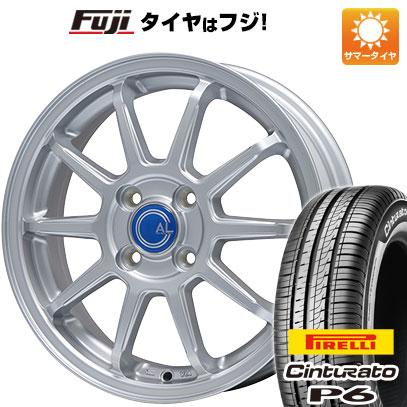 タイヤはフジ 送料無料 BRANDLE ブランドル M60 6J 6.00-15 PIRELLI チンチュラートP6 195/65R15 15インチ サマータイヤ ホイール4本セット