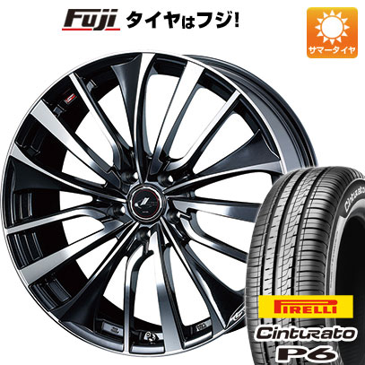 タイヤはフジ 送料無料 WEDS ウェッズ レオニス VT 6.5J 6.50-16 PIRELLI チンチュラートP6 215/65R16 16インチ サマータイヤ ホイール4本セット