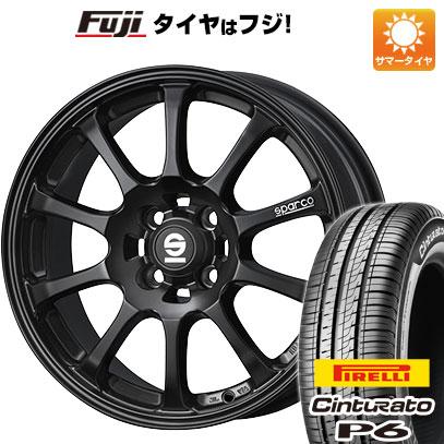 タイヤはフジ 送料無料 OZ SPARCO ドリフト 6.5J 6.50-15 PIRELLI チンチュラートP6 185/60R15 15インチ サマータイヤ ホイール4本セット