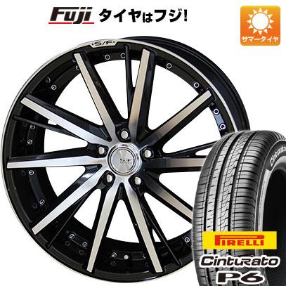 タイヤはフジ 送料無料 KYOHO 共豊 シュタイナーフォースド SF-V 7J 7.00-17 PIRELLI チンチュラートP6 215/50R17 17インチ サマータイヤ ホイール4本セット