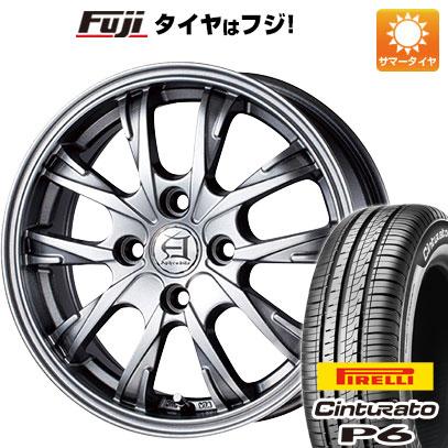 タイヤはフジ 送料無料 TECHNOPIA テクノピア アフロディーテ GX 5.5J 5.50-15 PIRELLI チンチュラートP6 185/60R15 15インチ サマータイヤ ホイール4本セット