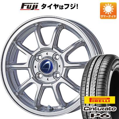 タイヤはフジ 送料無料 TECHNOPIA テクノピア アルテミス LSW 5.5J 5.50-15 PIRELLI チンチュラートP6 185/60R15 15インチ サマータイヤ ホイール4本セット