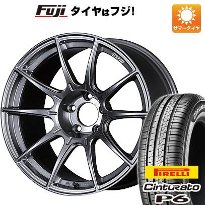 タイヤはフジ 送料無料 SSR GTX01 6J 6.00-15 PIRELLI チンチュラートP6 175/65R15 15インチ サマータイヤ ホイール4本セット