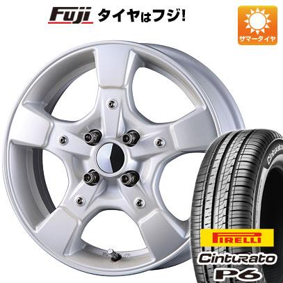 タイヤはフジ 送料無料 CRIMSON クリムソン グーフィー スプリッター 6J 6.00-15 PIRELLI チンチュラートP6 175/65R15 15インチ サマータイヤ ホイール4本セット