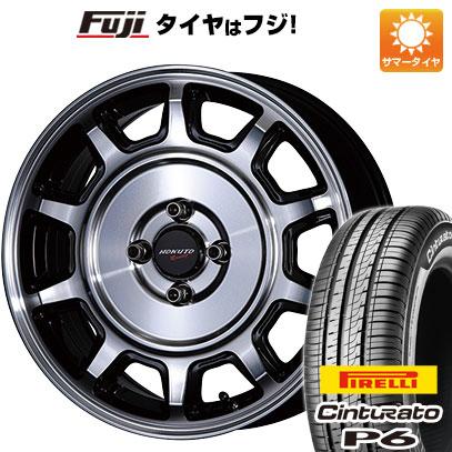 タイヤはフジ 送料無料 CRIMSON クリムソン ホクトレーシング 零式S 6J 6.00-15 PIRELLI チンチュラートP6 185/60R15 15インチ サマータイヤ ホイール4本セット