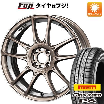 タイヤはフジ 送料無料 IMPUL インパル レーシングライン NR-01 6J 6.00-15 PIRELLI チンチュラートP6 185/60R15 15インチ サマータイヤ ホイール4本セット
