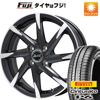タイヤはフジ 送料無料 BIGWAY ビッグウエイ B-WIN ゼナート 8(ブラックポリッシュ) 5.5J 5.50-15 PIRELLI チンチュラートP6 185/60R15 15インチ サマータイヤ ホイール4本セット