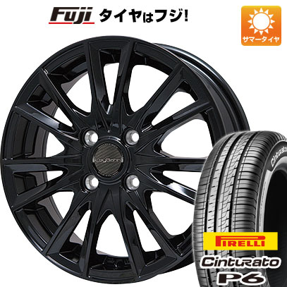 タイヤはフジ 送料無料 BIGWAY ビッグウエイ LEYBAHN GBX 5.5J 5.50-14 PIRELLI チンチュラートP6 175/65R14 14インチ サマータイヤ ホイール4本セット