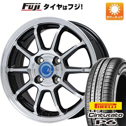 タイヤはフジ 送料無料 BRANDLE ブランドル M60B 5.5J 5.50-14 PIRELLI チンチュラートP6 175/65R14 14インチ サマータイヤ ホイール4本セット