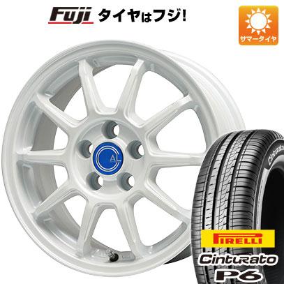 タイヤはフジ 送料無料 BRANDLE-LINE ブランドルライン カルッシャー ホワイト 6.5J 6.50-16 PIRELLI チンチュラートP6 205/55R16 16インチ サマータイヤ ホイール4本セット