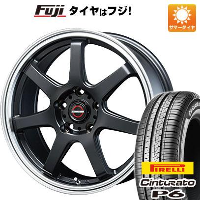 タイヤはフジ 送料無料 シエンタ 5穴/100 BLEST ブレスト ユーロマジック タイプS-07 6J 6.00-15 PIRELLI チンチュラートP6 185/60R15 15インチ サマータイヤ ホイール4本セット