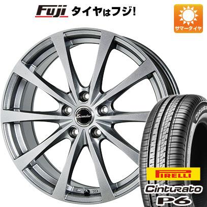 タイヤはフジ 送料無料 HOT STUFF ホットスタッフ エクシーダー E03 6.5J 6.50-16 PIRELLI チンチュラートP6 205/55R16 16インチ サマータイヤ ホイール4本セット