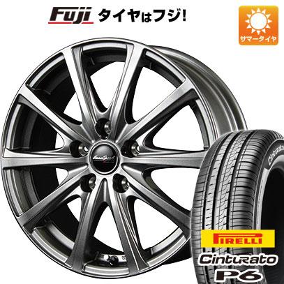 タイヤはフジ 送料無料 MID ユーロスピード V25 5.5J 5.50-14 PIRELLI チンチュラートP6 175/65R14 14インチ サマータイヤ ホイール4本セット