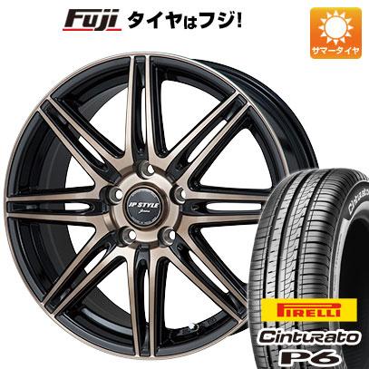 タイヤはフジ 送料無料 MONZA モンツァ JPスタイルジェリバ 6J 6.00-15 PIRELLI チンチュラートP6 195/65R15 15インチ サマータイヤ ホイール4本セット
