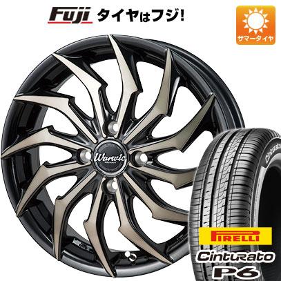 タイヤはフジ 送料無料 MONZA モンツァ ワーウィック ハーベル 5.5J 5.50-15 PIRELLI チンチュラートP6 185/60R15 15インチ サマータイヤ ホイール4本セット