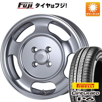 タイヤはフジ 送料無料 ENKEI エンケイ allシリーズ オールセブンティーン 5.5J 5.50-15 PIRELLI チンチュラートP6 185/60R15 15インチ サマータイヤ ホイール4本セット