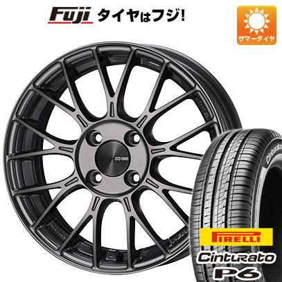 タイヤはフジ 送料無料 ENKEI エンケイ PFM1 6J 6.00-15 PIRELLI チンチュラートP6 175/65R15 15インチ サマータイヤ ホイール4本セット