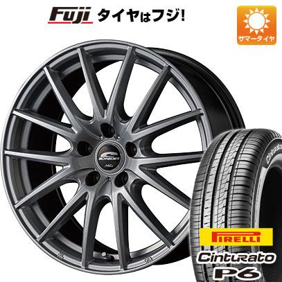 タイヤはフジ 送料無料 MID シュナイダー SQ27 7J 7.00-17 PIRELLI チンチュラートP6 215/50R17 17インチ サマータイヤ ホイール4本セット