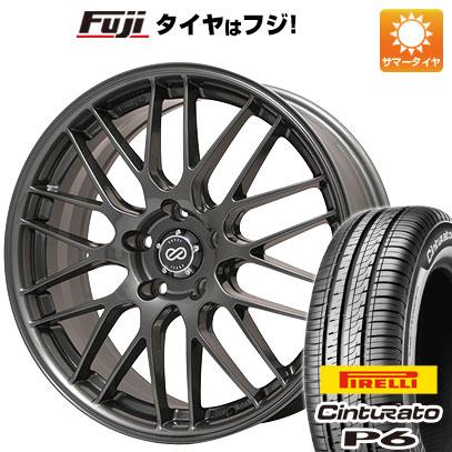 タイヤはフジ 送料無料 ENKEI エンケイ EKM3 7J 7.00-17 PIRELLI チンチュラートP6 215/50R17 17インチ サマータイヤ ホイール4本セット