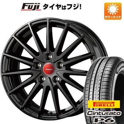 タイヤはフジ 送料無料 シエンタ 5穴/100 KOSEI コーセイ エアベルグ ゼノン 6J 6.00-15 PIRELLI チンチュラートP6 185/60R15 15インチ サマータイヤ ホイール4本セット