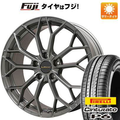 タイヤはフジ 送料無料 LEHRMEISTER レアマイスター LMスポーツLM-55M (マットガンメタ) 7J 7.00-16 PIRELLI チンチュラートP6 205/55R16 16インチ サマータイヤ ホイール4本セット