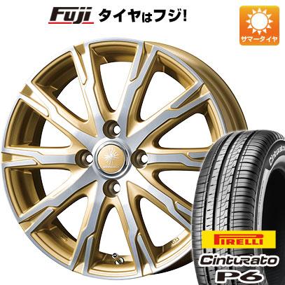タイヤはフジ 送料無料 TOPY トピー ディルーチェ DX10 5.5J 5.50-15 PIRELLI チンチュラートP6 185/60R15 15インチ サマータイヤ ホイール4本セット