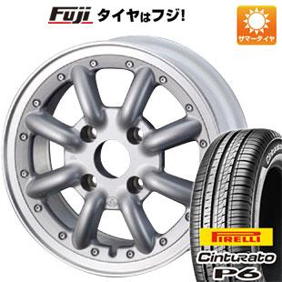 タイヤはフジ 送料無料 WATANABE ワタナベ New RS8 6J 6.00-15 PIRELLI チンチュラートP6 185/60R15 15インチ サマータイヤ ホイール4本セット