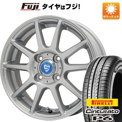 タイヤはフジ 送料無料 BRANDLE ブランドル 302 5.5J 5.50-15 PIRELLI チンチュラートP6 195/65R15 15インチ サマータイヤ ホイール4本セット