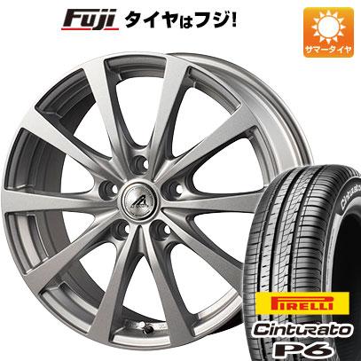タイヤはフジ 送料無料 INTER MILANO インターミラノ AZ-SPORTS EX-10 6.5J 6.50-16 PIRELLI チンチュラートP6 215/65R16 16インチ サマータイヤ ホイール4本セット