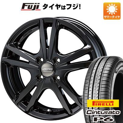 タイヤはフジ 送料無料 BLEST ブレスト バーンズテック ジゼリスFV 5.5J 5.50-15 PIRELLI チンチュラートP6 185/60R15 15インチ サマータイヤ ホイール4本セット