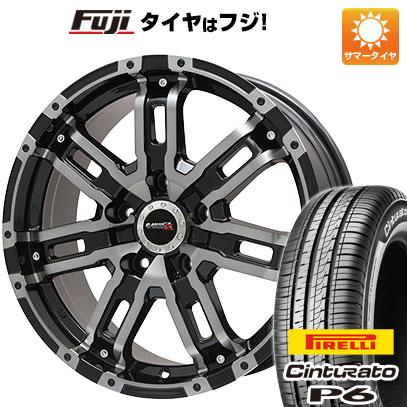 タイヤはフジ 送料無料 BIGWAY ビッグウエイ B-MUD Z(ブラックポリッシュ/ブラッククリア) 7J 7.00-17 PIRELLI チンチュラートP6 215/55R17 17インチ サマータイヤ ホイール4本セット