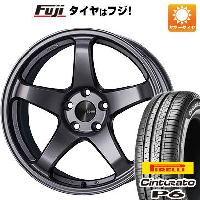 7/25はエントリーでポイント15倍 タイヤはフジ 送料無料 ENKEI エンケイ PF05 6J 6.00-15 PIRELLI チンチュラートP6 185/60R15 15インチ サマータイヤ ホイール4本セット