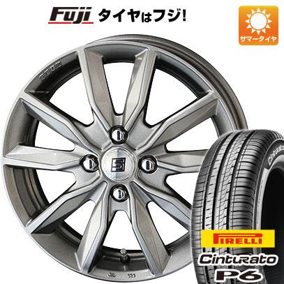 タイヤはフジ 送料無料 KYOHO 共豊 キョウホウ ザインSV 5.5J 5.50-14 PIRELLI チンチュラートP6 175/65R14 14インチ サマータイヤ ホイール4本セット