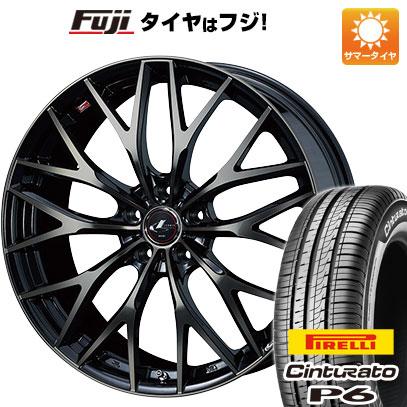 タイヤはフジ 送料無料 シエンタ 5穴/100 WEDS ウェッズ レオニス MX 6J 6.00-15 PIRELLI チンチュラートP6 185/60R15 15インチ サマータイヤ ホイール4本セット