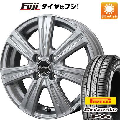 タイヤはフジ 送料無料 MID ユーロスピード C-07 5.5J 5.50-14 PIRELLI チンチュラートP6 175/65R14 14インチ サマータイヤ ホイール4本セット