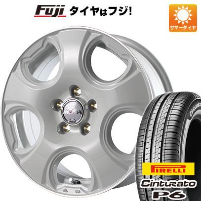 タイヤはフジ 送料無料 シエンタ 5穴/100 MID モッシュキャット 6J 6.00-15 PIRELLI チンチュラートP6 185/60R15 15インチ サマータイヤ ホイール4本セット