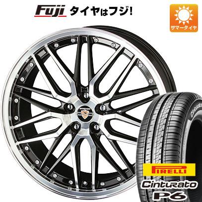 7/25はエントリーでポイント15倍 タイヤはフジ 送料無料 KYOHO 共豊 シュタイナー LMX 7J 7.00-17 PIRELLI チンチュラートP6 215/50R17 17インチ サマータイヤ ホイール4本セット