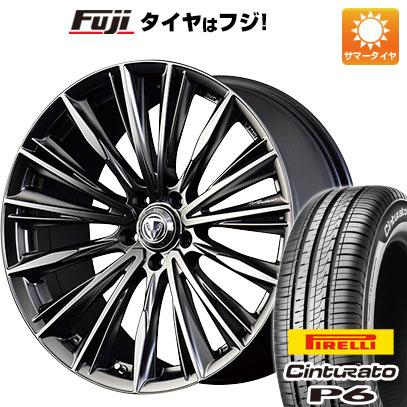 タイヤはフジ 送料無料 VERSUS ベルサスクラフトコレクション ヴォウジェ フローズンメタルコーティング 7J 7.00-17 PIRELLI チンチュラートP6 215/55R17 17インチ サマータイヤ ホイール4本セット