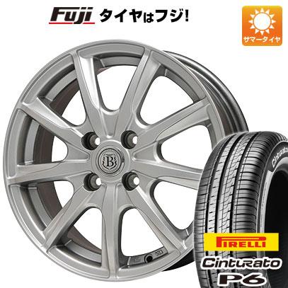 タイヤはフジ 送料無料 BRANDLE ブランドル E05 5.5J 5.50-14 PIRELLI チンチュラートP6 175/65R14 14インチ サマータイヤ ホイール4本セット