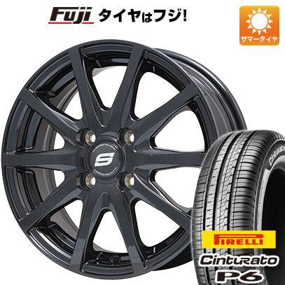 タイヤはフジ 送料無料 BRANDLE ブランドル M71B 5.5J 5.50-15 PIRELLI チンチュラートP6 185/65R15 15インチ サマータイヤ ホイール4本セット