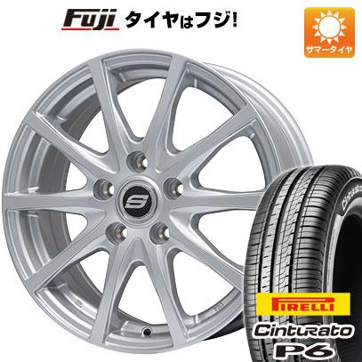 タイヤはフジ 送料無料 BRANDLE ブランドル M71 6J 6.00-15 PIRELLI チンチュラートP6 195/65R15 15インチ サマータイヤ ホイール4本セット